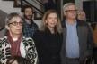 """Rosa Artigas e Bruno Salerno Rodrigues (ao fundo), festa de lançamento do livro """"Abrahão Sanovicz, arquiteto"""", IAB/SP, 22 ago. 2017<br />Foto Fabia Mercadante"""