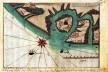 Vila de Conceição, atual Itanhaém, até a barra de Bertioga, mapa de Bertholomeu Payz de Abreu, 1719<br />Imagem divulgação  [Demonstração da costa desde Buenos Ayres athé a Vila de Santos / Acervo da Biblioteca Naci]