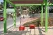 Vista sob a Pérgola-Mesa - Banco-Bola<br />Imagem dos autores do projeto