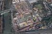 Área do Mattatoio de Testaccio e Campo Borio<br />Foto divulgação  [Google Earth]
