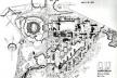 Fig. 14 - Universidade Nacional Autónoma do México. Plano de Conjunto maio de 1952. Mario Pani, Enrique del Toral. [ADRIÂ, Miquel; Mario Pani La construcción de la Modernidad]