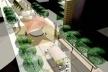 Rua de Eventos e Biblioteca Pública<br />Imagem dos autores do projeto
