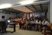 Discentes da FAU e do PPGAU durante o primeiro dia de atividades, auditório da FAU UFPA<br />Foto Douglas Naegeli