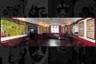 """""""Hall of Boers War"""", salão dos fundos do Ye Cracke com imenso mural que retrata a batalha. A decoração se mantém como era nos anos 1950<br />Foto Victor Hugo Mori"""
