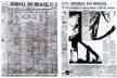 À esquerda, Jornal do Brasil, 11/11/1956: antes da reforma, o império dos classificados; à direita, Jornal do Brasil, 11/11/1959: texto, fotografia e uso diversificado da tipografia, facilitam a vida do leitor