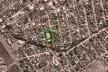 Vista aérea - Praça Cajueiros e E. M. Capistano de Abreu<br />Imagem dos autores do projeto