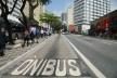Corredor de ônibus, rua da Consolação, São Paulo<br />Foto Rovena Rosa  [Agência Brasil]