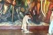 Mural de Siqueiros no Palácio de Chapultepec<br />Fotos Michel Gorski