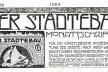 Frontispício do primeiro número da revista Der Städtebau, publicada em 1904 e editada por Sitte e Goecke
