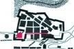 6. Planta do núcleo inicial de Salvador. Observe-se a analogia com o traçado da cidade da Parahyba (Fig. 8) em relação à posição tanto da praça da Câmara quanto da principal via de acesso a ela (logradouros indicados em vermelho na figura acima) [Evolução física de Salvador (UFBA-FA-CEAB, Salvador, 1998)]