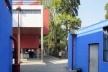 Casas-estúdio de Diego Rivera e Frida Kahlo, quintal comum, 1931. Arquiteto Juan O'Gorman<br />Foto Victor Hugo Mori