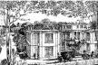 Perspectiva de pavilhões, Cidade-Jardim Hospitalar da Granja Branca, 1911, Lyon (de Toni Garnier). Fonte: FERMAND, C., Les hôpitaux et les cliniques. Paris: Le Moniteur, 1999, p 26