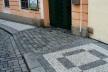 Calçamento em Praga<br />Foto Márcio Correia Campos