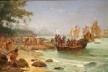 Desembarque de Cabral em Porto Seguro, óleo sobre tela de Oscar Pereira da Silva (1922) [Wikimedia commons]
