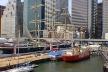 South Street Seaport, área histórica revitalizada em Manhattan, Nova York