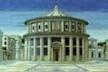 Piero della Francesca, Perspectiva de uma Praça, pintado por volta de 1470 [ROWE, Colin. Manierismo y arquitectura moderna y otros ensayos. Gustavo Gili, 1978]