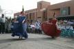 Cootrapar – cooperativa de trabajadores de aceros del Paraguay. Usos del edificio: danza de la botella. Arq. Luis Alberto Elgue y Arq. Cynthia Solis Patri. Villa Hayes, Paraguay. 2007 – 2008.