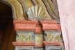 Capela de São João Batista, pormenor do retábulo do lado das epístolas, extinto Arraial do Ferreiro, Goiás Velho GO, 2014<br />Foto Elio Moroni Filho