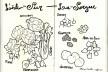 Dia de feira em L'isle-Sur-la-Sorgue, França<br />Desenho de Petterson Dantas