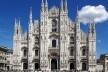 Vista da fachada da Catedral de Milão em 2011<br />Foto Jakub Hałun  [Wikimedia Commons]