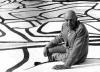 Jean Dubuffet fotografado por Louis Heckly em 1973 [www.dubuffetfondation.com]