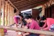 Taller de Confección Amairis, proceso, San Isidro, Colombia. Taller Ruta 4<br />Foto Joan Pulgarin