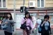 Turistas japonesas no centro histórico<br />Foto Fabio Jose Martins de Lima