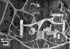 """Maquete do projeto aprovado. 1953. NIEMEYER, Oscar. """"Mutilado o conjunto do Parque Ibirapuera"""". Módulo. Edição especial. Rio de Janeiro, 1955."""