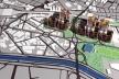 Vista aérea a partir da Casa Verde<br />Imagem dos autores do projeto