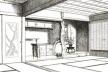 Fig. 6 – Sala de visitas em Hachi-Ishi [Fonte: MORSE, Edward S. Japanese homes and their surroundings. Boston: University Press, 1]