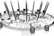 Esquema da disposição dos 12 mastros principais da estrutura