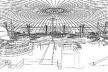 Croqui de estudo do interior do Dome