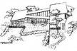 Trabalho de aluno. Disciplina Pequenas Composições de Arquitetura. Revista Arquitetura, Engenharia, Urbanismo, Belas Artes e Decoração, vol. I, 1946, p. 55