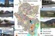 Mapa da Situação Existente e Propostas para Santo André<br />Adaptação e imagens da autora  [Mapa da Prefeitura Municipal de Santo André - Revisão do Plano Diretor]