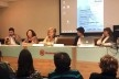 <i>Semana Jorge Wilheim</i>, mesa de abertura com Lucas Dalcim, Angélica Alvim, Eunice Abazcal, Juliana Gilardino e Ana Maria Wilheim<br />Foto Abilio Guerra