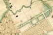 Detalhe do Mappa de Carlos Rath de 1855, com a localização do parcelamento dos terrenos da Santa Casa