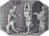 A punição pelo suplício do corpo – imagem de um processo de tortura pela inquisição espanhola em 1700 (imagem de domínio público) [Wikimedia Commons; Disponível em: <commons.wikimedia.org> Acesso em 29 de set. 2007]