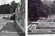 Vistas dos murais desenhados por Burle Marx e jardim [BARDI, 1964]