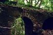 Ruinas del antiguo cafetal franco haitiano La Florida, detalle de arcada que sostiene el acueducto industrial, integración al entorno, alto valor arqueológico