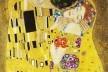 """Gustav Klimt, """"O beijo"""", 1907–1908 (detalhe)<br />Imagem divulgação"""