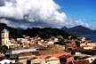Panorama de São Francisco do Sul e baía da Babitonga, detalhe<br />Foto Esdras Araujo Arraes