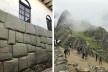 À esquerda, Hatunrumiyoc Cusco, pedra dos 12 ângulos; à direita, Machu Picchu<br />Foto José Lira