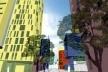 Perspectiva de rua e calçada<br />Imagem dos autores do projeto