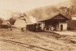 Chegada de um trem na estação da Cantareira, c.1895<br />Foto divulgação  [Acervo pessoal]