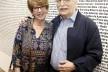 """Benedito Lima de Toledo e sua esposa Suzana Aléssio de Toledo, exposição """"FAU 70 anos"""", Centro Universitário Maria Antônia, 17 abril 2018 <br />Foto Marcos Santos  [USP Imagens]"""