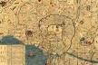 Fig. 8 – Mapa de Edo, atual Tóquio, 1844-1848 [Fonte: Universidade do Texas, em Austin]