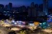 Vista noturna do Largo da Batata, São Paulo<br />Foto Mauricio Cremonini