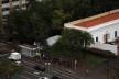 Oficina de desenho urbano MCB, mobiliário urbano atravancando a calçada, São Paulo, 2011<br />Foto Camila Dias e Gustavo Mascarenhas