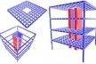Composição dos sistemas estruturais de edificações elevadas pelo subsistema horizontal e vertical