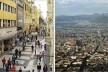 """À esquerda, Lima; à direita, Cidade do México<br />Fotos Juan Carlos Dextre e Benedikt Fahlbusch  [livro """"Conquistar a Rua! Compartilhar sem Dividir""""]"""